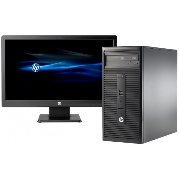 hp 280 g1 microtower 19 intel core i5 500gb hdd 4gb ram os win 8 1 black techbuyz. Black Bedroom Furniture Sets. Home Design Ideas