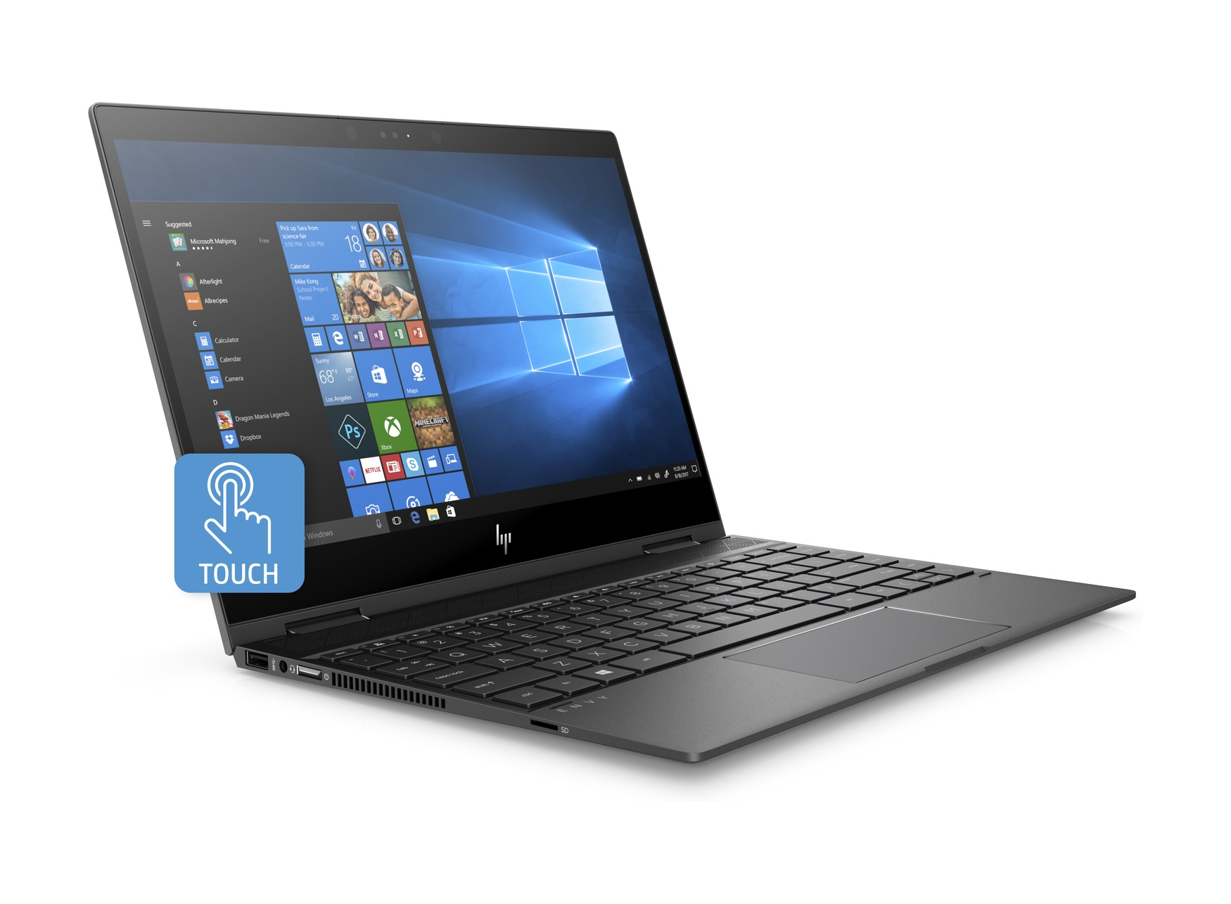 HP ENVY x360 13 3 AMD Ryzen 5 2500U (2 00 GHz) 8 GB Memory 128 GB